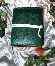 GREEN MAN LEATHER JOURNAL/BOOK OF SHADOWS ~ HAND MADE PAPER
