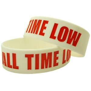 All Time Low 25mm Silicon Rubber Wristband - CLEARANCE