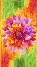 "Dream~Chong A Hwang -Bold and Beautiful Floral Panel 23"" X 44"""