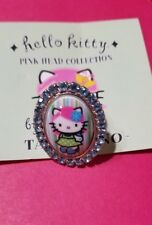 Hello Kitty x Tarina Tarantino Pink Head Collection Adjustable Ring Swarovski