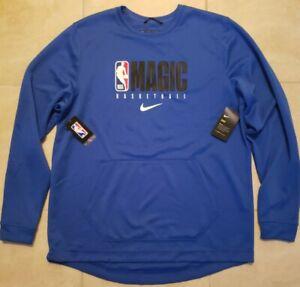 New Nike NBA Orlando Magic On Court Pullover Mens 2XL Tall $90 NWT Blue