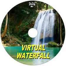 SOOTHING VIRTUAL WATERFALL DVD VIDEO VIEW ON FLATSCREEN, PLASMA, LED TV/PC NEW