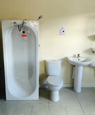 BRAND NEW ** Complete Bathroom Suite, inc Basin Mixer & Bath Mixer + Bath Panel