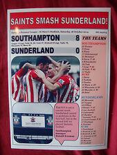 Southampton 8 Sunderland 0 - 2014 - souvenir print