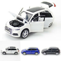 1:32 Audi Q5 SUV Model Car Diecast Toy Vehicle Light Sound Kids Gift Blue Black