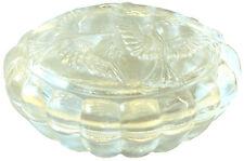 Dose, geformt, in Kristallglas. Motiv 2 Tauben - AE 792