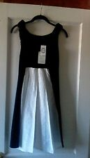 NWT Zova L.A.,black&white tuxedo color block,92%modal-8%spandex,tunic dress,Sz.L