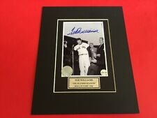 Ted Williams Signed 4x5 Photo with Certificate of Authenticity-COA
