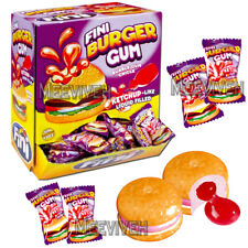 FINI BURGER GUM LIQUID FILLED BUBBLEGUM RETRO SWEETS & CANDY 50/100/200 PIECES