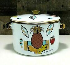 Georges Briard Ambrosia Covered Stock Pot 🍍~ Vintage Enamelware ~ 🍓 ~ 4 Qt.