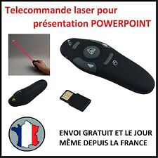 TELECOMMANDE COMMANDE DISTANCE PRESENTATION POWERPOINT LASER USB PROJECTEUR PTT