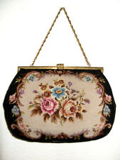 Sehr GROSSE Gobelintasche, Petit Point Lupenstickerei Tasche, Pretty Gobelin Bag