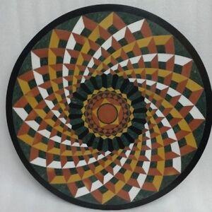 "42"" center round marble Table Top marquetry Pietra Dura Inlay art decor"