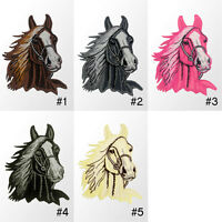 #2239IR Horse Head Embroidered Sew Iron on Motif Patch Applique Badge 3inch Tall