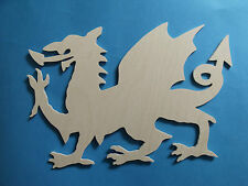 1 Birch plyood wooden large welsh dragon heraldry craft pyrography (NOT MDF)