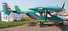 Akkord 201 Amphibian Airplane Wood Model Free Ship New