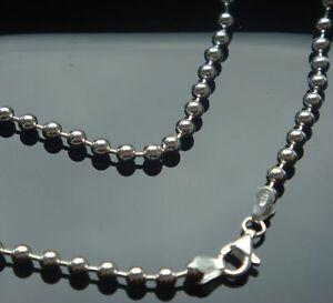Kugelkette echtem 925 er Silber 3 mm, 70 cm, Kette, Silberkette