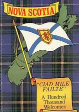 Nova Scotia Flag, Tartan, Ciad Mile Failte, Canada Greetings,Red Lion - Postcard
