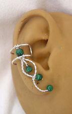 Right  Single Malachite earcuff/ ear clip  #79MAL