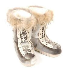 BRAND NEW SHEARED ARCTIC BEAVER COYOTE FUR WINTER BOOTS WOMAN WOMEN