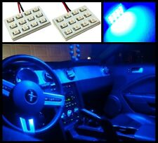 2 Pieces blue 12 LED dome map interior light SMD panels Xenon bulbs HID lamp #A2