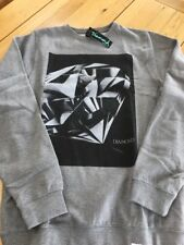 Diamond Cut Crewneck Sweater/sweatshirt/top Size S Grey