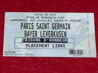 [COLLECTION SPORT FOOT] TICKET PSG / BAYER LEVERKUSEN 23 JUIL 2003 Match Amical