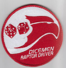 PATCH USAF F-22 RAPTOR 90th FS DICENEB RAPTOR DRIVER VEL BACK    PARCHE