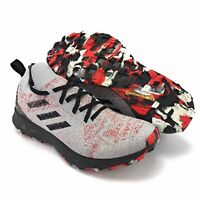 Adidas Men's Terrex Two Parley Gray Red Black Trail Running Shoes FU7659 Sz 9.5