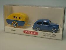 Wiking Ford Taunus mit Wohnwagen - 0820 04 - 1/87