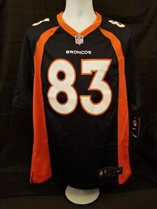 Nike Mens Size M Dk Blue NFL Denver Broncos 83 Welker On Field Football Jersey