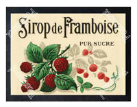 Historic French Raspberry Syrup, Sirop De Framboise Advertising Postcard