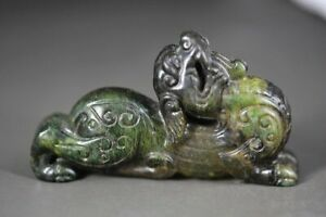 Exquisite Chinese Old Jade Hand Carved *Beast* Statue H21