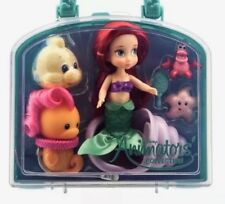 "DISNEY ANIMATORS' COLLECTION MINI DOLL 5"" ARIEL THE LITTLE MERMAID PLAY SET CASE"
