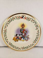 "Lenox Disney Holiday Plate ""A Carolin We Go"" Mickey Minnie Pluto Goofy Daffy"