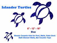 Islander Turtles Mosaic Ceramic Tile for Swimming Pool Bath Bar Wall Deck Table