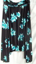 Below Knee Polyester Machine Washable Floral Skirts for Women