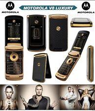 2GB ORIGINALE MOTOROLA RAZR2 V8 Luxury Edition ORO 100% sbloccato il telefono cellulare