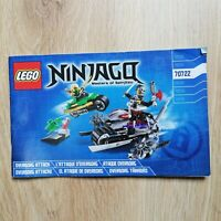 LEGO - INSTRUCTIONS BOOKLET ONLY OverBorg Attack - Ninjago - 70722