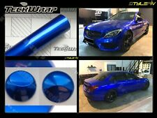 Film vinyle covering bleu métallisé brillant 152 x 30 cm de marque TECKWRAP