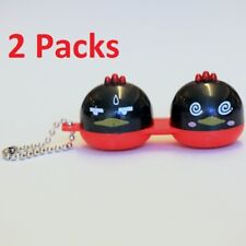 2 Packs Cute Black & Red Twin Birds Contact-Lens Holder Case Great for Traveling