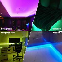 5M RGB LED Light Strip Bar TV Room Background Computer Decor USB Remote LD2057