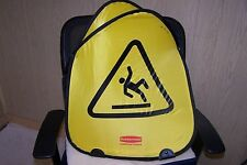 New Rubbermaid Commercial Products Caution Wet Floor Foldable Nylon Sign