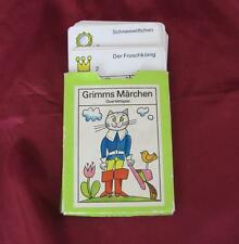 1970s VINTAGE GERMAN GDR CHILD PLAYING CARDS SET w/GRIMMS FAIRY TALE CHARACTERS
