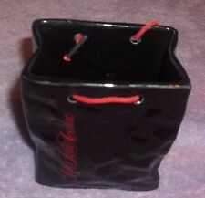 SAKS FIFTH AVENUE Glass PAPER BAG FORM DISPLAY BY CARLTON WARE POTTERY ENGLAND
