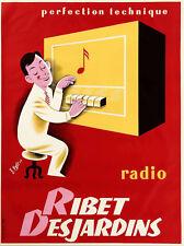 Affiche ancienne vintage Radio  Ribet des Jardins 1956
