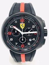 Scuderia Ferrari 0830261 46mm Cassa di Acciaio, Cinturino di Silicone, Orologio da Polso per Uomo