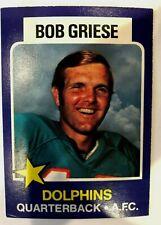 BOB GRIESE - 1975 Wonder Bread #13 - MIAMI DOLPHINS
