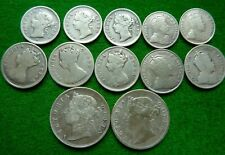 More details for a collection of 12 hong kong silver coins - 1888-1905