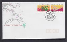 CHRISTMAS IS  2001  Year of the SNAKE design set   on FDC